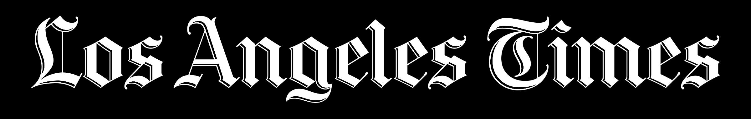 la times logo white